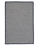 RugStudio presents Colonial Mills Outdoor Houndstooth Tweed Ot59 Navy Braided Area Rug